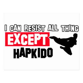 hapkido martial design postcard