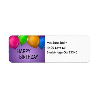HAPP1, Mrs.Sara Smith, 4400 aman al Dr., Etiquetas De Remite