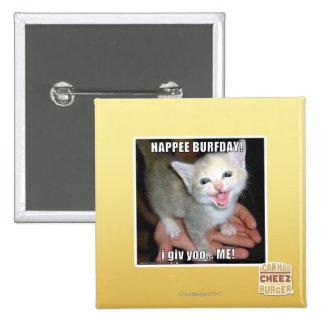 HAPPEE BURFDAY! BUTTON