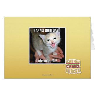 HAPPEE BURFDAY! CARD