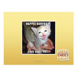 HAPPEE BURFDAY! POSTCARD