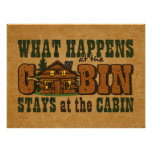 Happens At The Cabin Poster