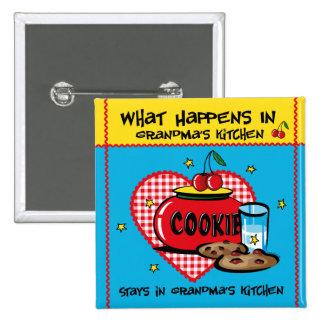 Happens In Grandma's Kitchen 2 Inch Square Button