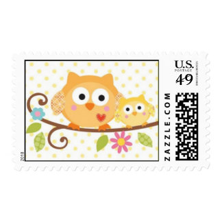 HAPPI TREE OWL BABY SHOWER POSTAGE