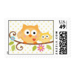HAPPI TREE OWL BABY SHOWER POSTAGE STAMP