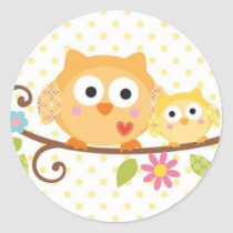 HAPPI TREE OWL BABY SHOWER STICKER