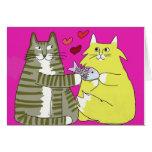 Happicats de la tarjeta del día de San Valentín