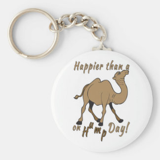 Happier than a Camel on Hump Day Basic Round Button Keychain