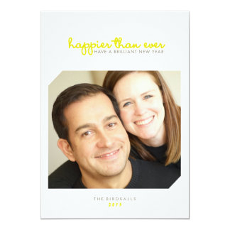 Happier than Ever | Brilliant New Years Photo Card
