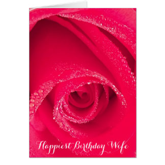 Happiest Birthday Wife Card