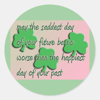 Happiest Day Classic Round Sticker