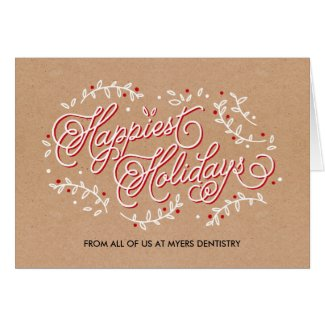 Happiest Holidays Business Holiday Greeting Card