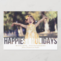 Happiest Holidays Christmas Greeting Holiday Card