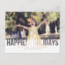 Happiest Holidays Christmas Greeting Holiday Postcard