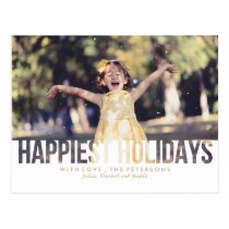 Happiest Holidays Christmas Greeting Postcard