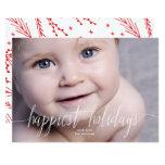 Happiest Holidays Christmas Photo Card