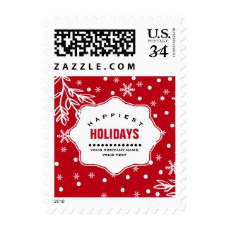 Happiest Holidays. Custom Christmas Postage Stamps
