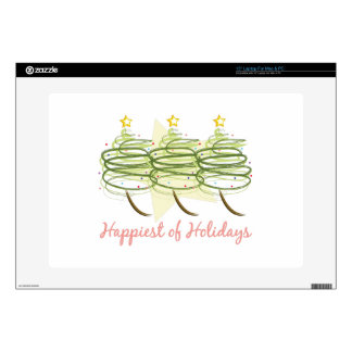 Happiest Holidays Laptop Decal