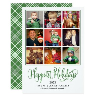 Christmas Themed Happiest Holidays | Photo Collage Card