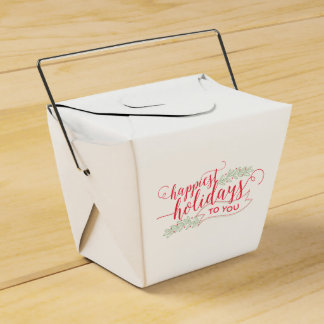 Happiest Holidays Script Christmas Goodies Box