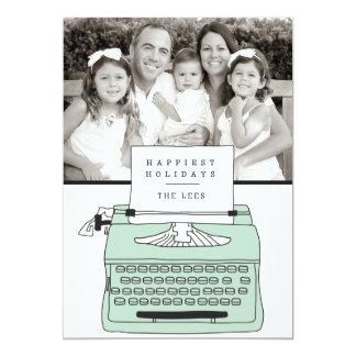 Happiest Holidays Typewriter Holiday Photo Card