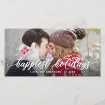 Happiest Holidays Whimsical Greeting Holiday Card