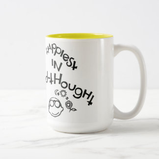 Happiest In Mid-Thought Two-Tone Coffee Mug