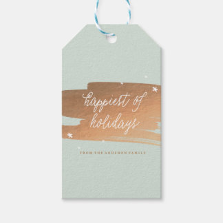 HAPPIEST OF HOLIDAYS holiday christmas Gift Tags Pack Of Gift Tags
