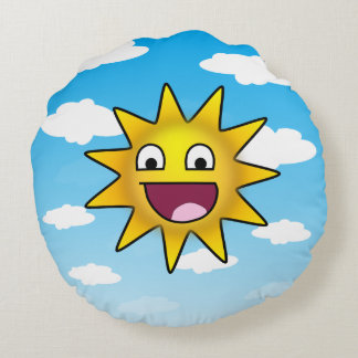 Happiest Sun Ever Round Pillow
