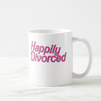 Happily Divorced Classic White Coffee Mug