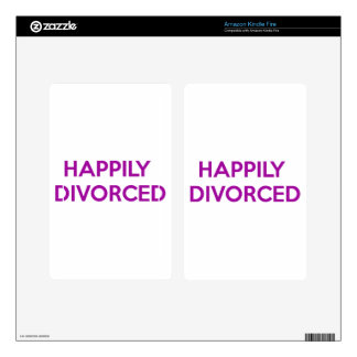 Happily Divorced - Happy To Be Divorced Decal For Kindle Fire