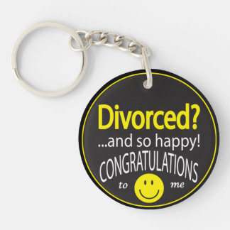 Happily Divorced Acrylic Keychains