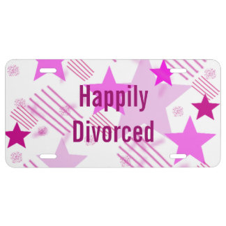 Happily Divorced License Plate