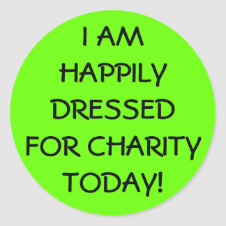 Happily Dressed Casual Friday Classic Round Sticker