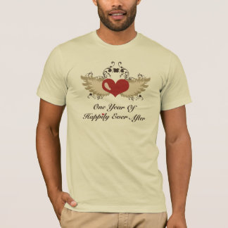 Happily Ever After 1st Wedding Anniversary Tshirt