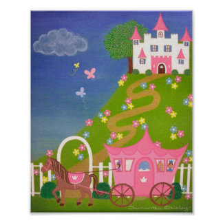 Happily Ever After - 8x10 Princess Castle Kids Art Poster