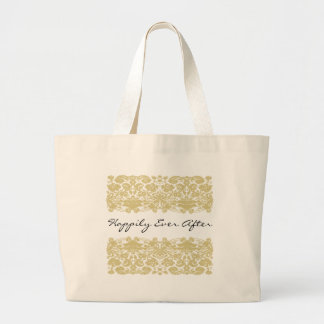 Happily Ever After Brides Bag-Personalizable Text Large Tote Bag