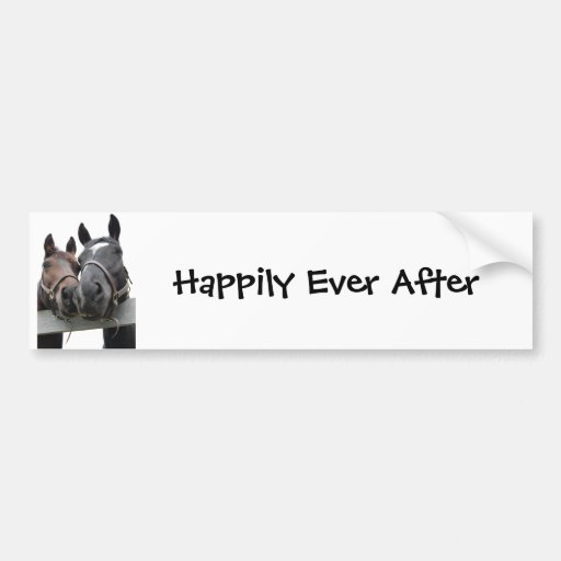 Happily Ever After Car Bumper Sticker