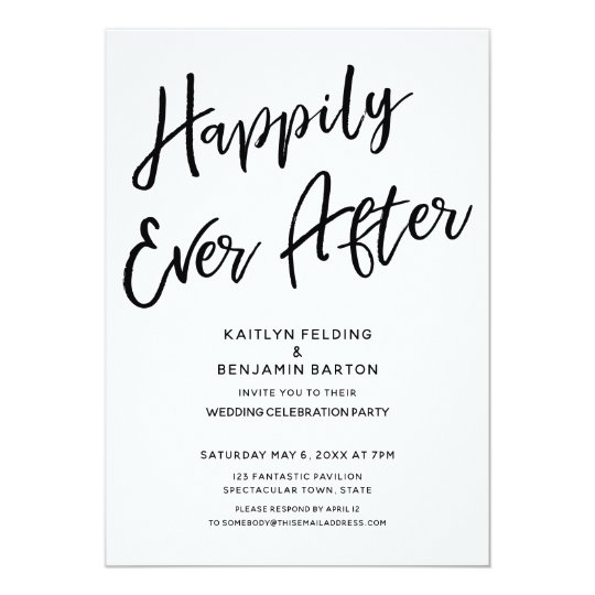 Hily Ever After Casual Post Wedding Party Invitation