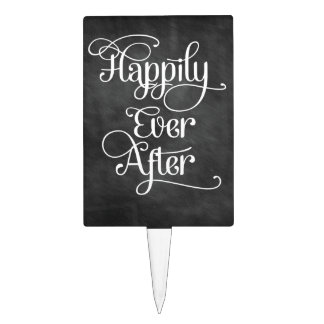 Happily Ever After Chalkboard Cake Pick