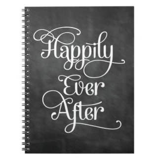 Happily Ever After Chalkboard Notebook