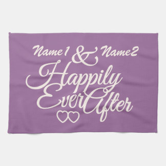 Happily Ever After custom hand towels
