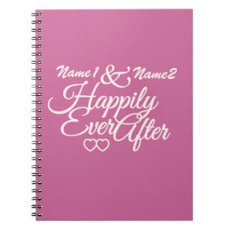 Happily Ever After custom notebook