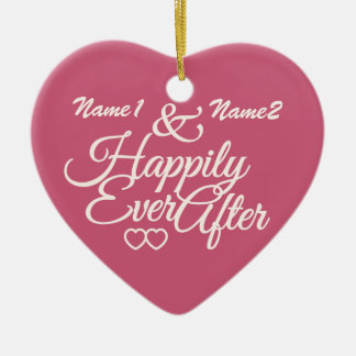 Happily Ever After custom ornament