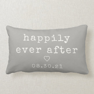 Happily Ever After | Custom Wedding Date Lumbar Pillow