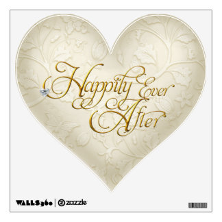 Happily Ever After Damask Wall Decal