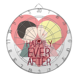 Happily Ever After Dartboard With Darts