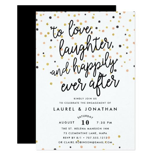 After The Wedding Party Invitations: Engagement Party Invitation
