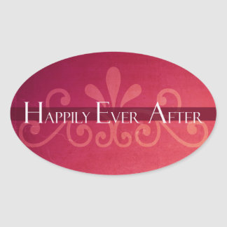 Happily Ever After Fairy Tale Princess Oval Sticker