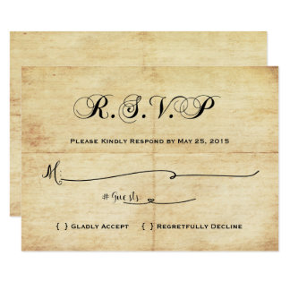 Happily Ever After Fairytale RSVP Card